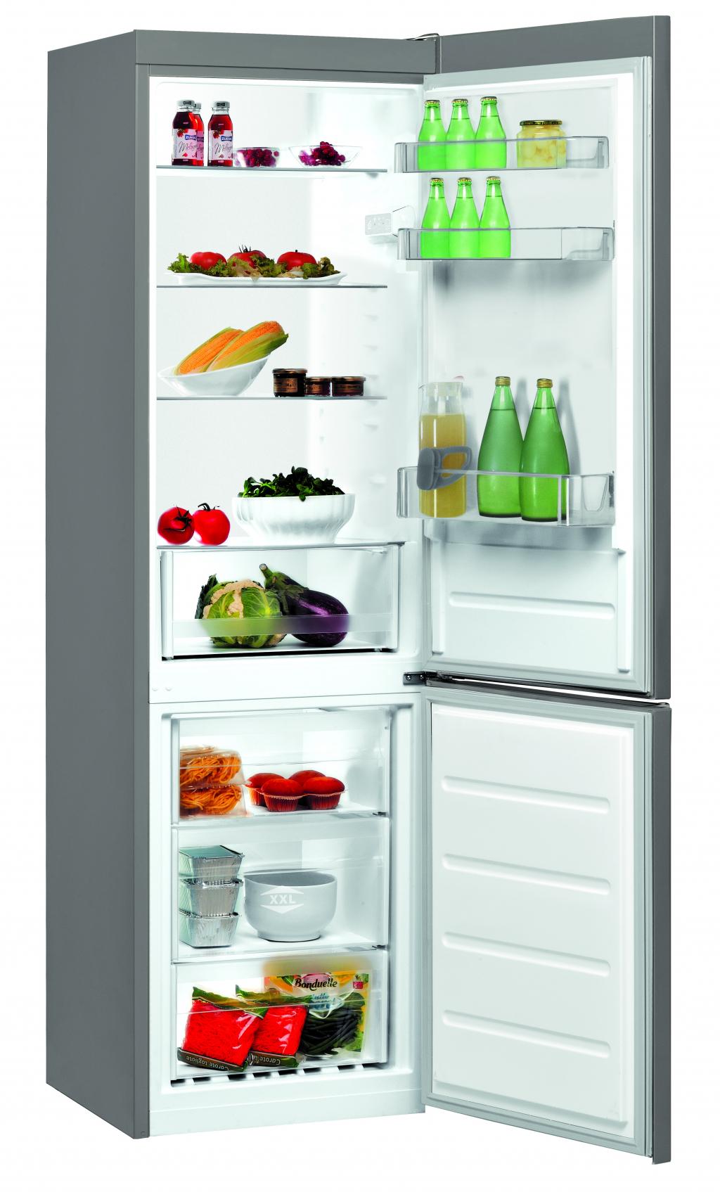 Хладилник с фризер Indesit LI8S1X