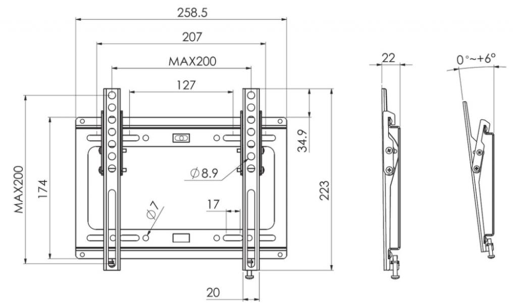 """Стойка за телевизор Stell SHO-B331 LCD 13""""-40"""""""