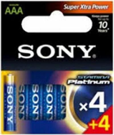 Батерии Sony AM4PTB4X4D Alkaline Stamina Platinum 4+4 pcs AAA