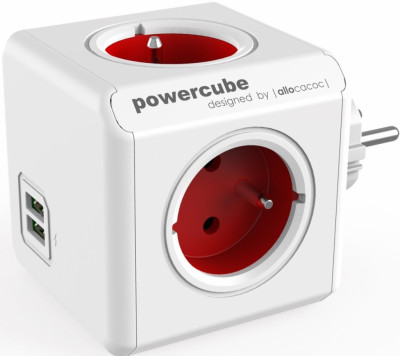 Разклонител Allocacoc PowerCube 1202RD 4 гнезда 2 USB