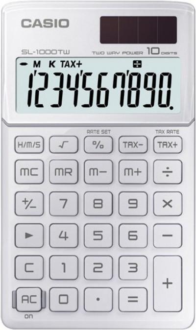 Калкулатор Casio SL-1000TW бял