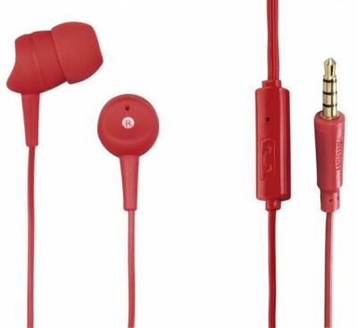 Слушалки HAMA-137438 Basic червени с микрофон