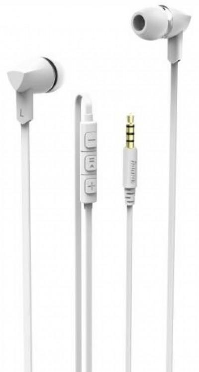 Слушалки HAMA-137440 Basic+ бели с микрофон