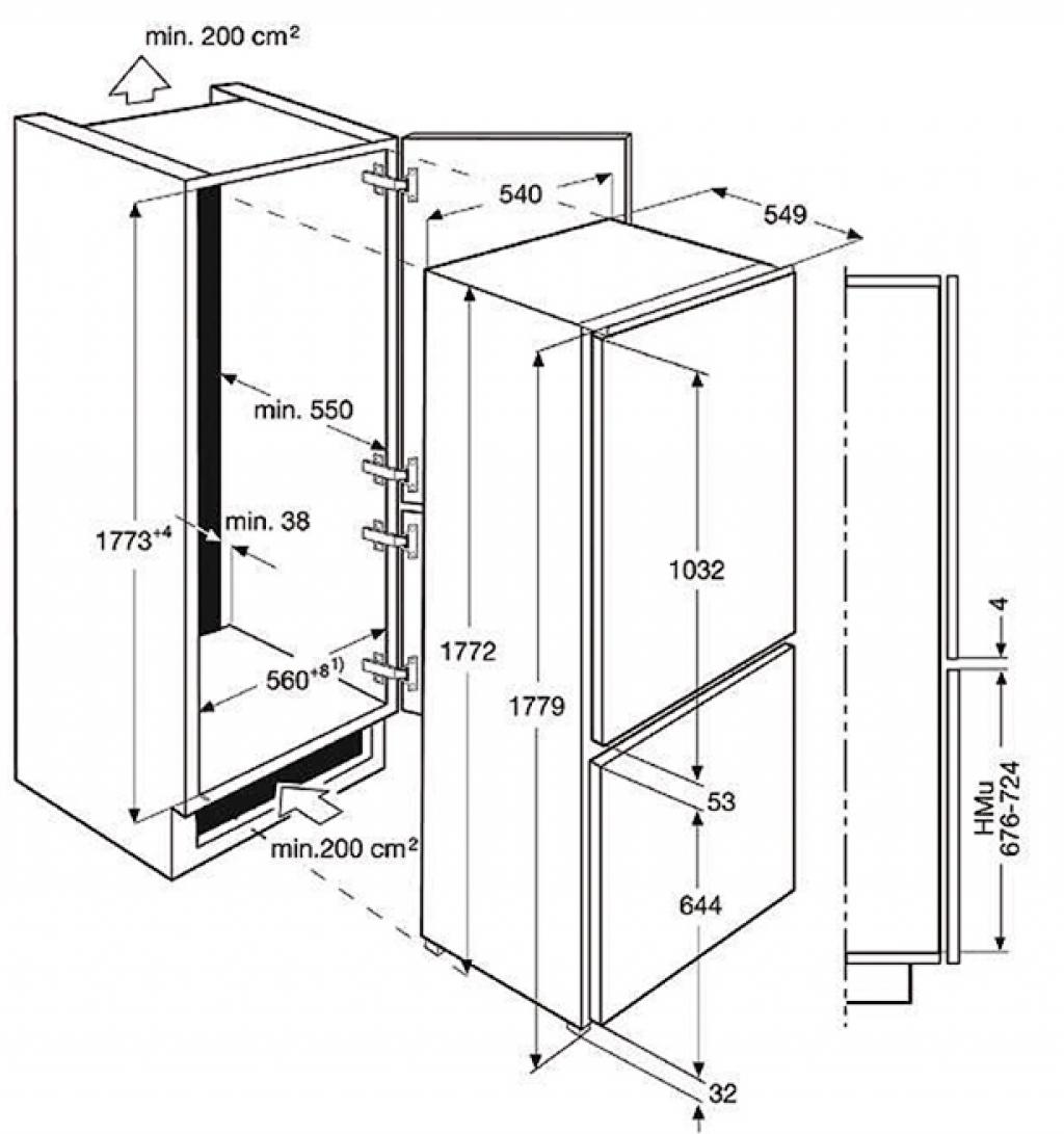 Хладилник за вграждане AEG SCE81826TS
