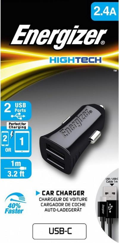 Зарядно за кола Energizer AN00001496 DCA2BHC23 Micro USB Type C 2.4A