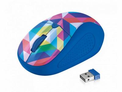 Мишка TRUST Primo Wireless Mouse Blue Geometry 21480