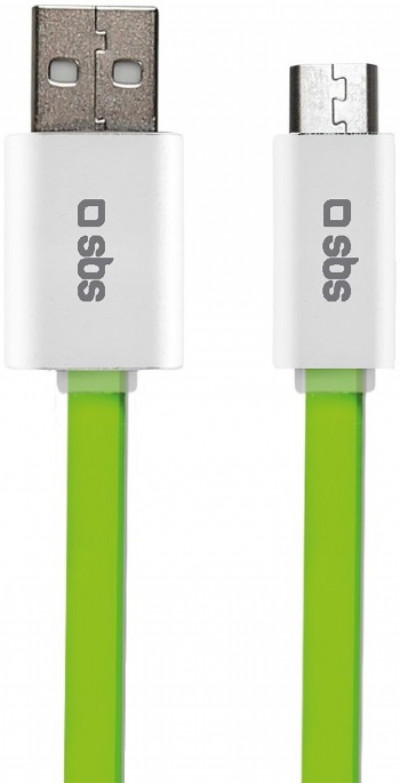 Кабел SBS Charge and Sync USB-micro-USB flat cable 1.5m TECABLEMICROFLATG
