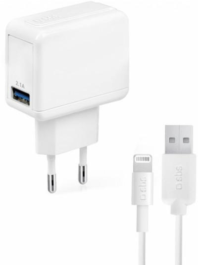 Зарядно устройство SBS Power Travel Kit with USB 2.100 mA TTKITIPTRAV2AW
