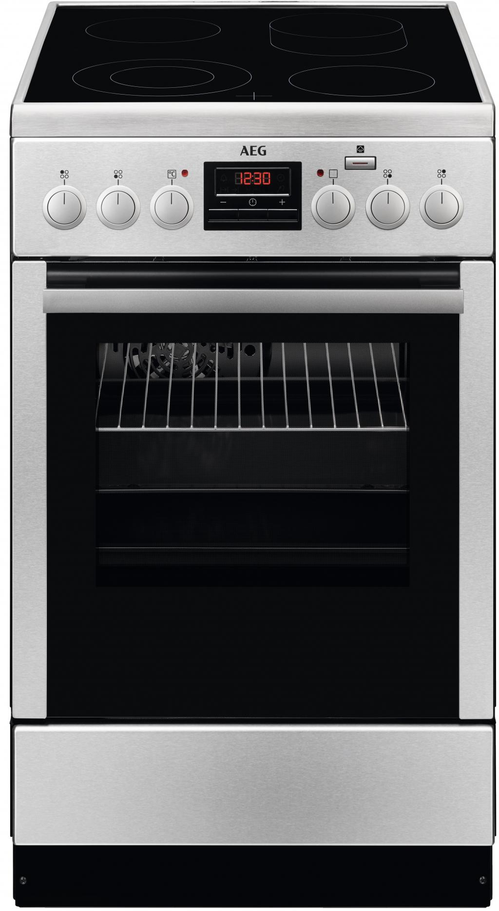 Готварска печка с керамичен плот AEG CCB56400BX