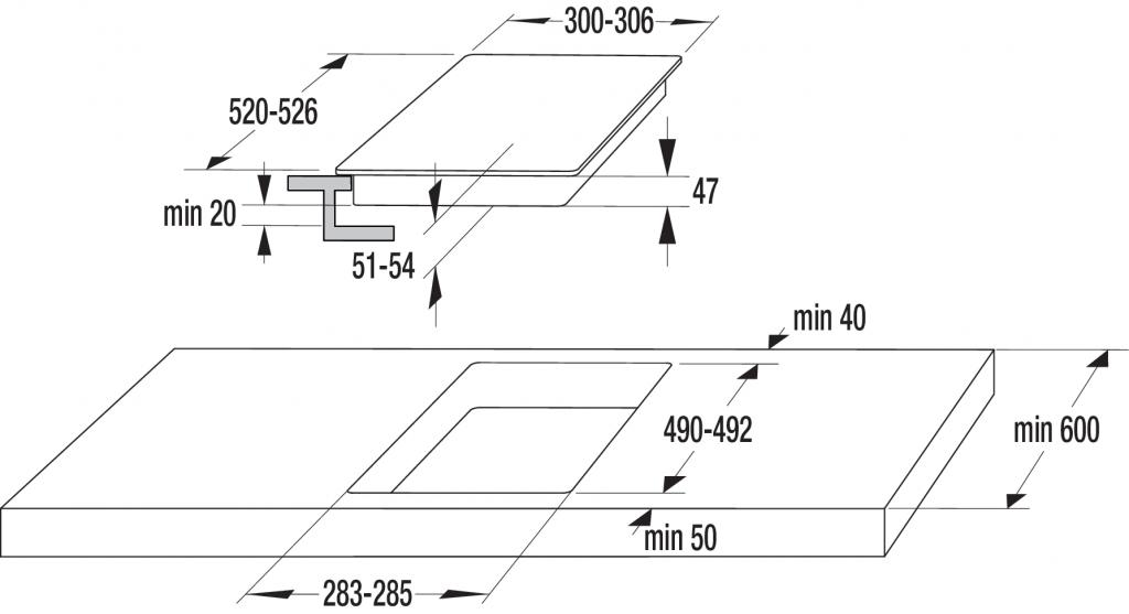 Плот за вграждане - керамика/двойка Gorenje ECT322BCSC