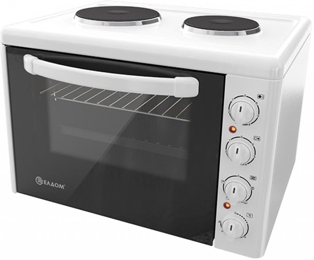 Мини печка - електрическа ELDOM 203VFE new + Дъска дървена за рязане на продукти