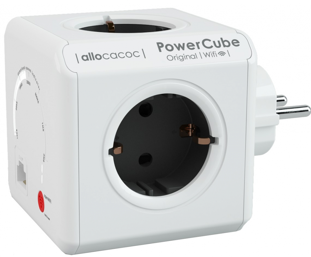 Разклонител Allocacoc PowerCube WiFi 9610 4 гнезда