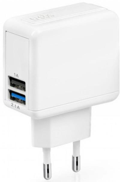 Зарядно устройство SBS Travel charger USB 2100 mAh TETRAV2USB2AW