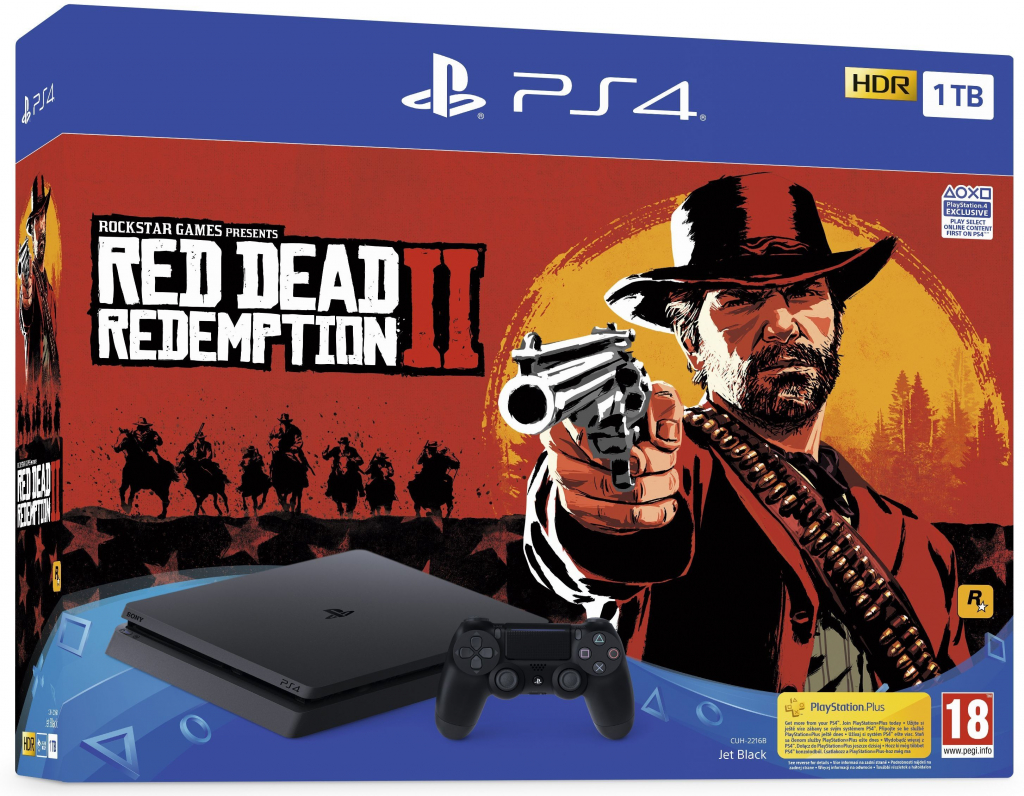 Конзола за TV Sony Playstation PS4 1TB F/EXP RDR2