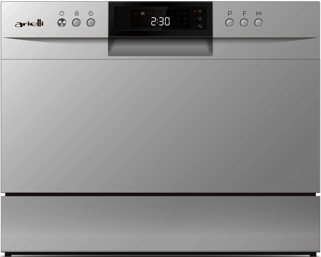 Съдомиялна машина компактна Arielli ADW6-3602H Silver
