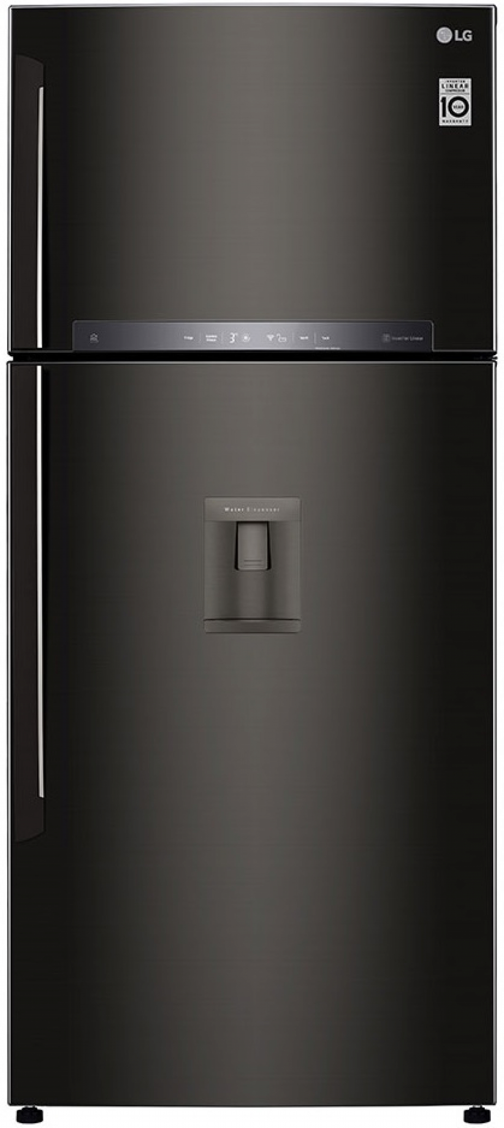 Хладилник с горна камера LG GTF-744 BLPZD