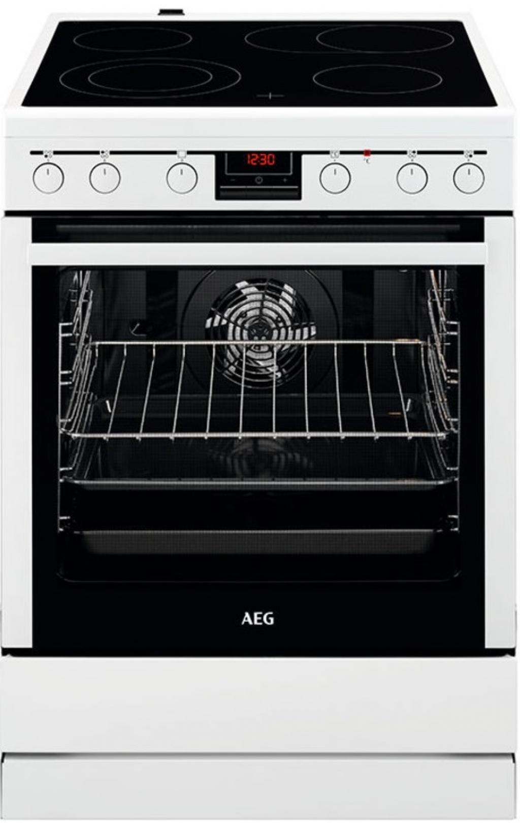 Готварска печка с керамичен плот AEG CCB6440BBW