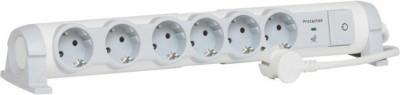 Разклонител Legrand 694656 6x2P+E с кабел 1.5м с гръмозащита