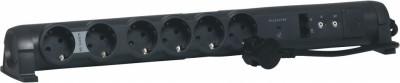 Разклонител Legrand 694666 6х2P+E RJ45x2 TVx2 с кабел 1.5м с гръмозащита