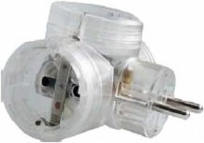 Адаптер за контакт Legrand 50663 3x2P+T T- образен прозрачен