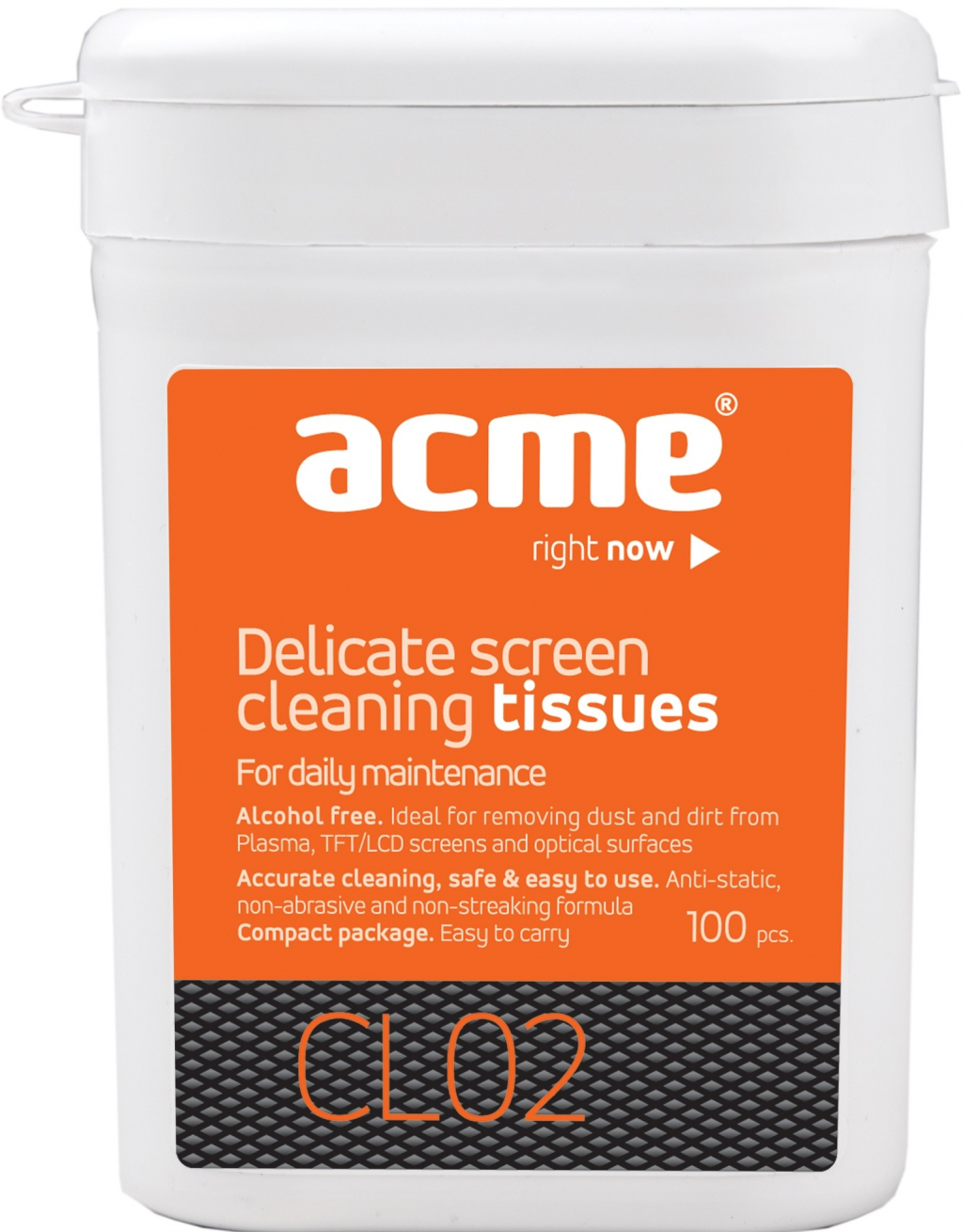 Почистващ препарат ACME CL02 Screen cleaning tissues TFT/LCD