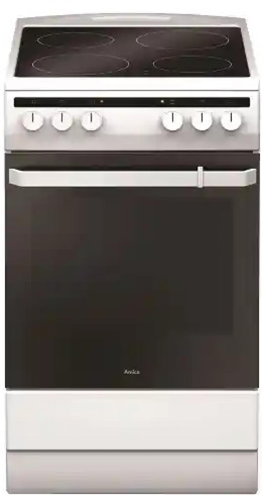 Готварска печка с керамичен плот AMICA 58CE2.30P(W) 55353