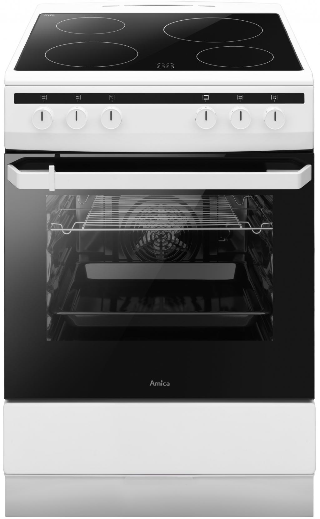 Готварска печка с керамичен плот AMICA 618CE2.30(W) 55355