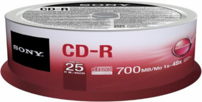 CD-R SONY 48x 25pcs 25CDQ80SP