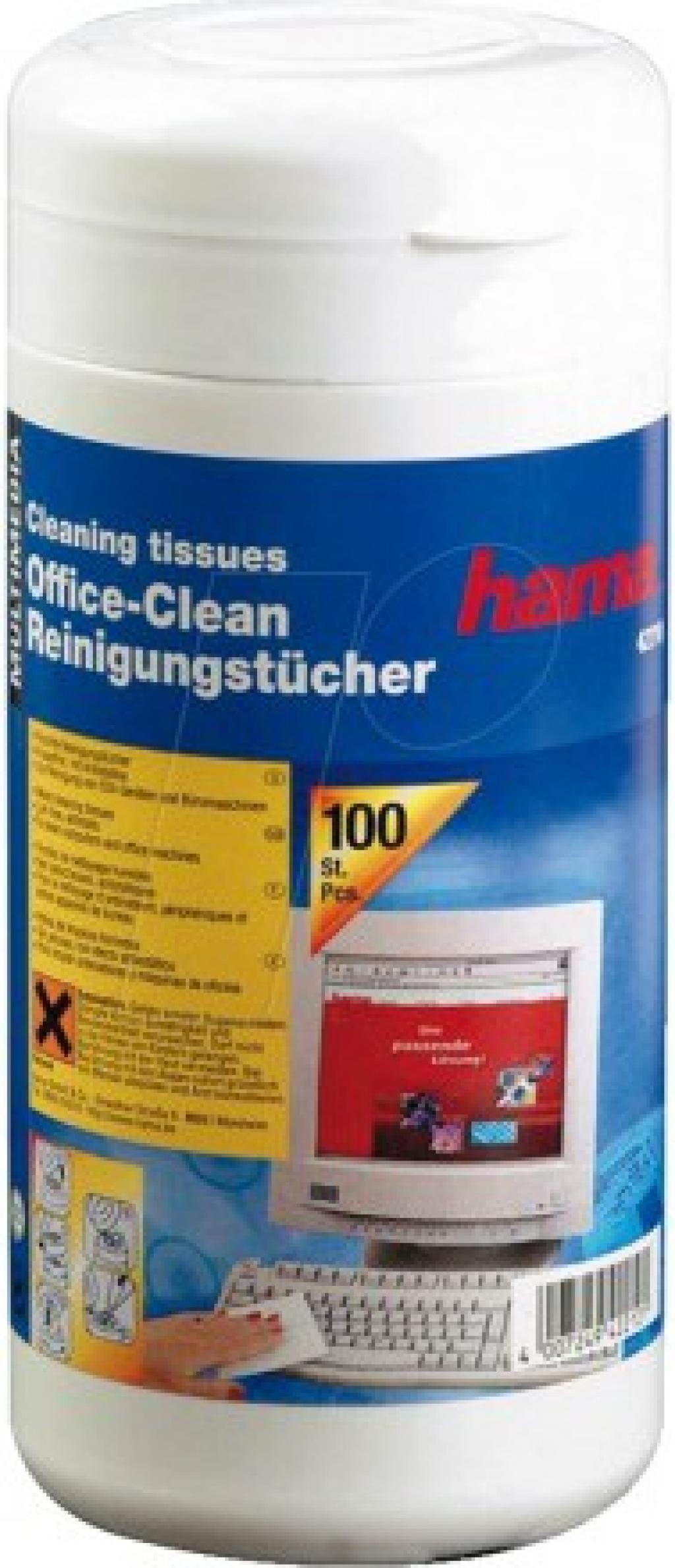 Почистващ препарат HAMA 42210 за повърхност 100 бр кърпички