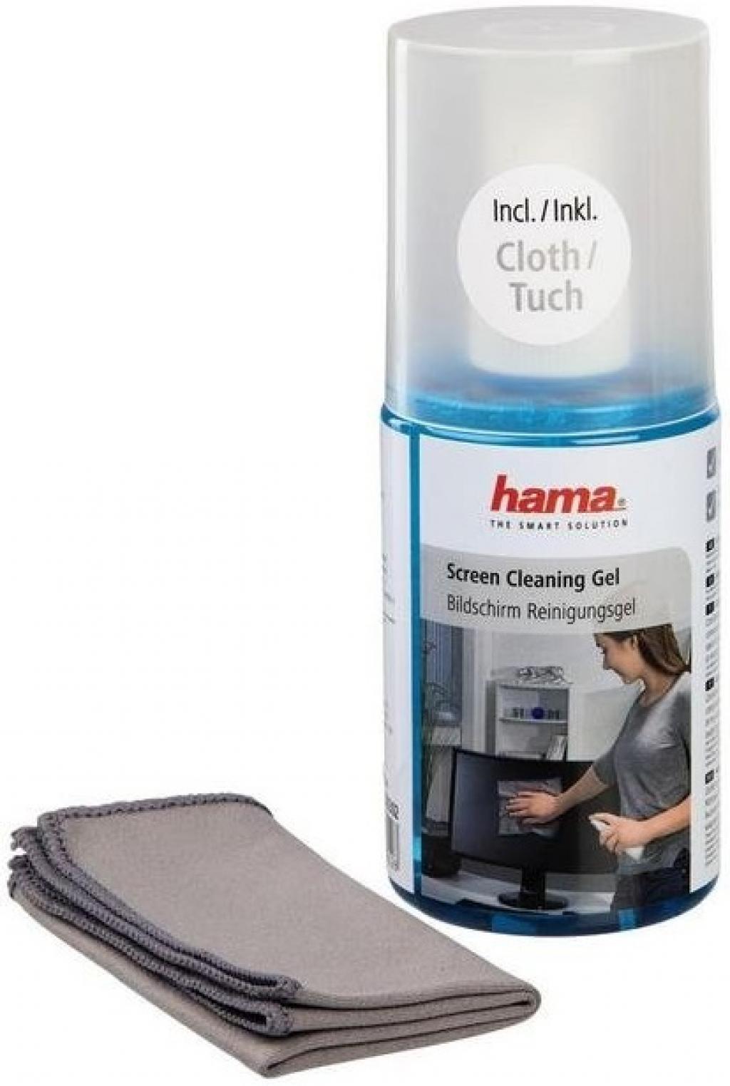Почистващ препарат HAMA 78302 гел за LCD,TFT,плазми с кърпа
