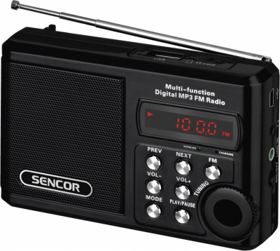 Радио Sencor SRD215 B с USB/MP3