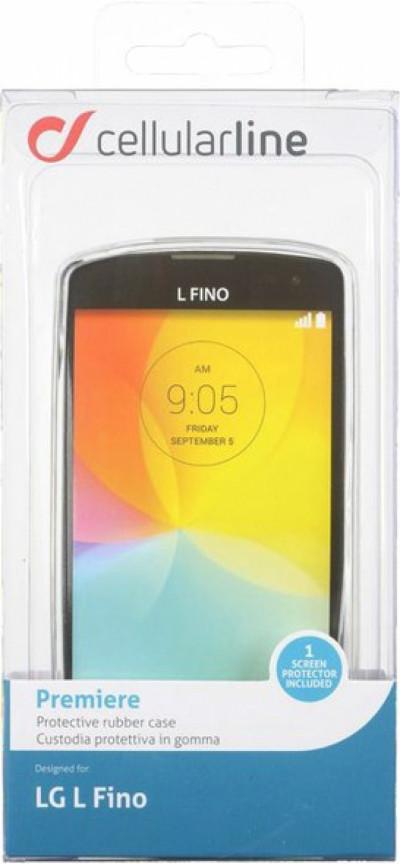 Калъф за телефон Cellular Line PREMIERESPLGLFIT+Screen Protector за LG L Fino