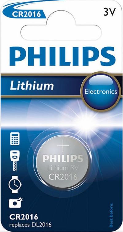 Батерии Philips CR2016/01B