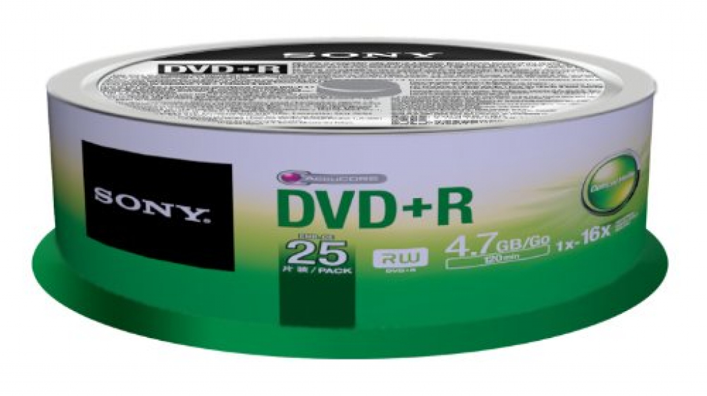 DVD+R SONY 16x 25pcs 25DPR47SP