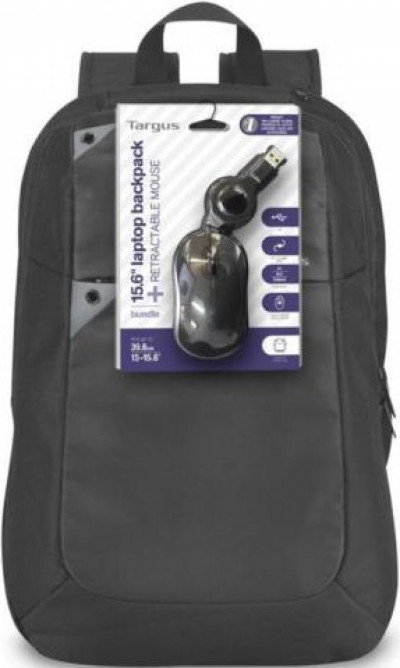 Чанта за лаптоп Targus 15.6 Backpack + Wired Mouse BEU3189