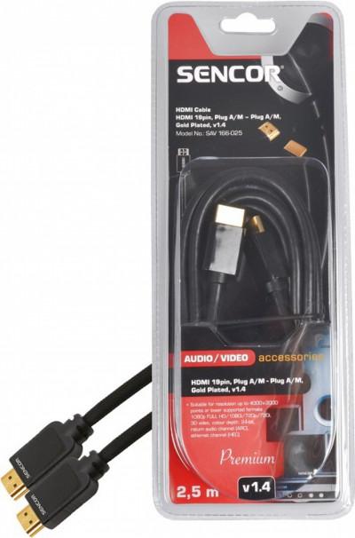 Кабел Sencor SAV 166-025 HDMI-HDMI,2.5M