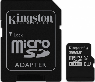 SD micro карта памет KINGSTON SDC10G2 32GB + адаптор
