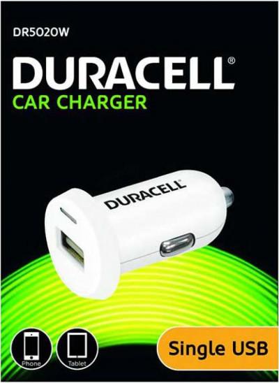 Зарядно за кола Duracell single USB DR5020W