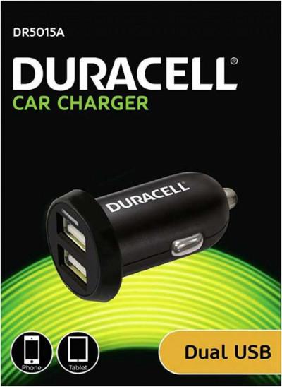 Зарядно за кола Duracell duo USB DR5015A
