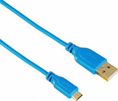 Кабел HAMA 135701 micro usb Flexi-Slim USB 2.0, 0,75м син
